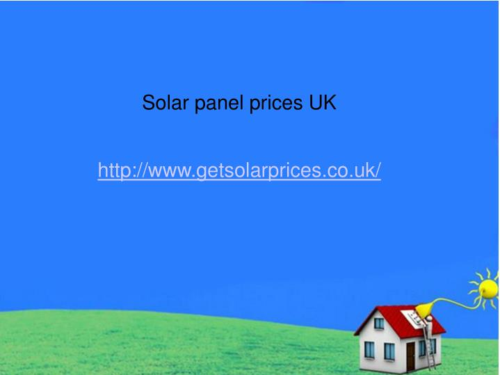 Solar panel prices UK