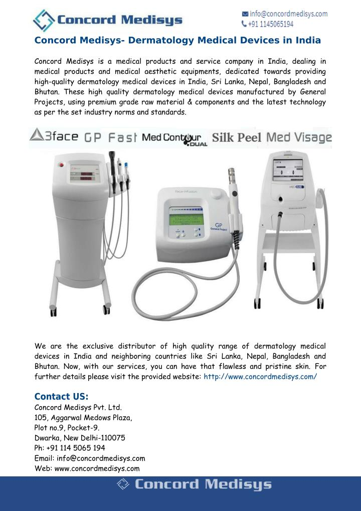 Concord Medisys- Dermatology Medical Devices in India