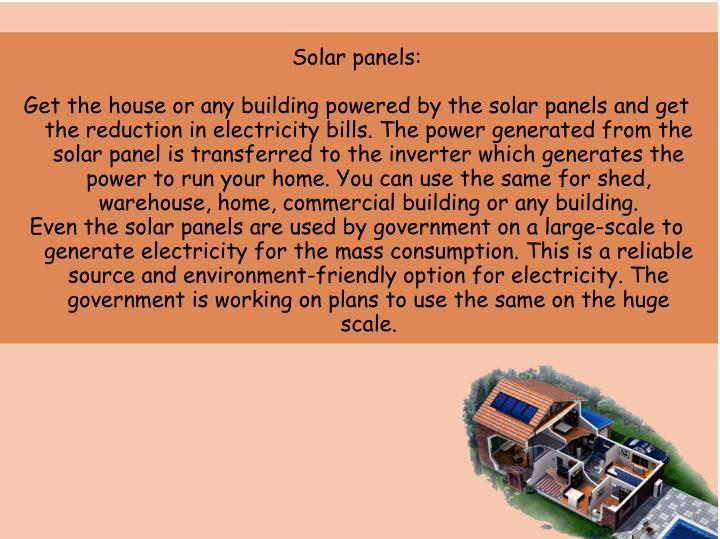 Solar panels: