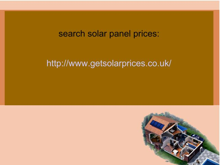 search solar panel prices: