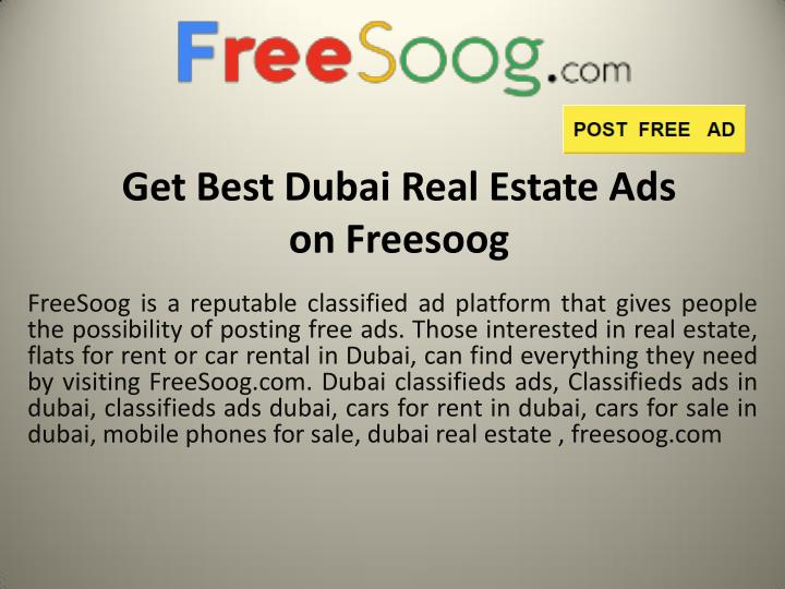 Get Best Dubai Real Estate Ads