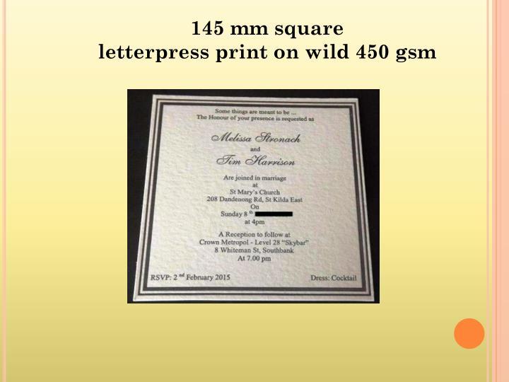 145 mm square