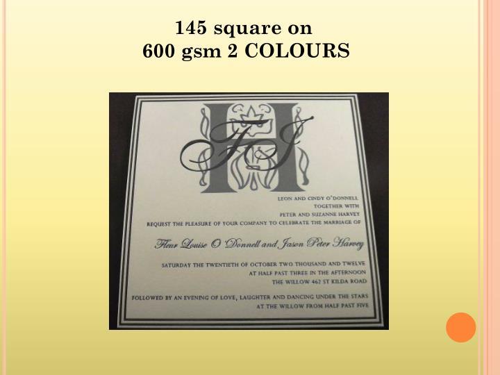 145 square on