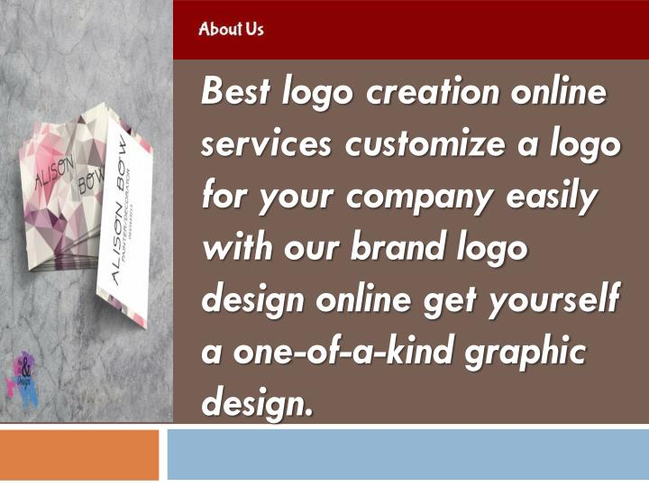 Best logo creation online services customize a logo for your company easily with our brand logo desi...