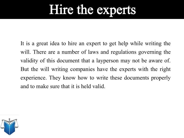 Hire the experts