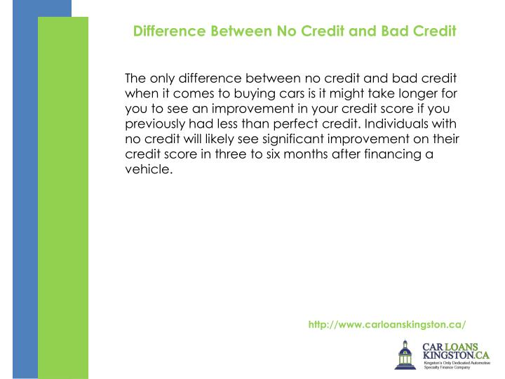 Difference Between No Credit and Bad Credit