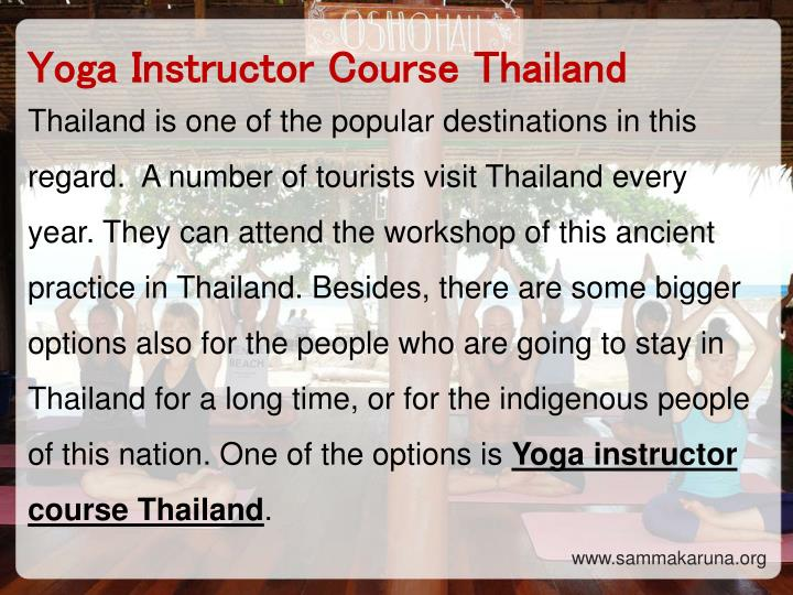 Yoga Instructor Course Thailand