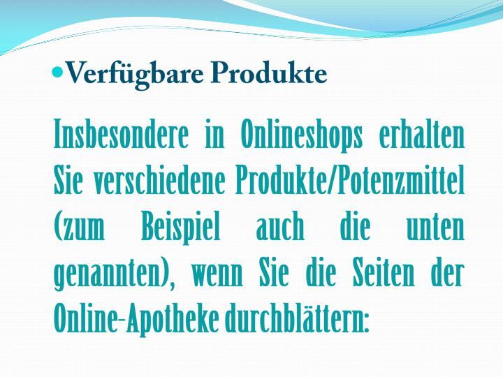 Verfügbare Produkte