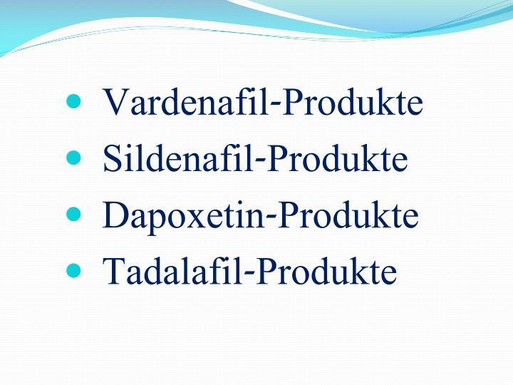 Vardenafil-Produkte