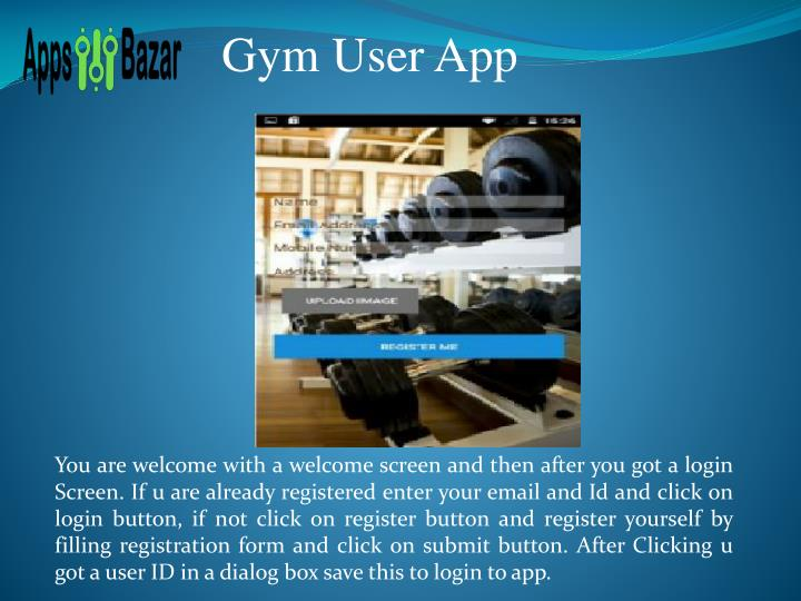 Gym User App