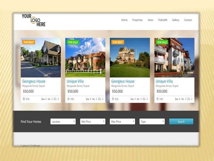 Property listing real estate template i netsolution
