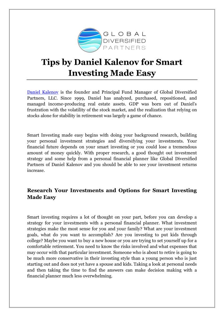 Tips by Daniel Kalenov for Smart