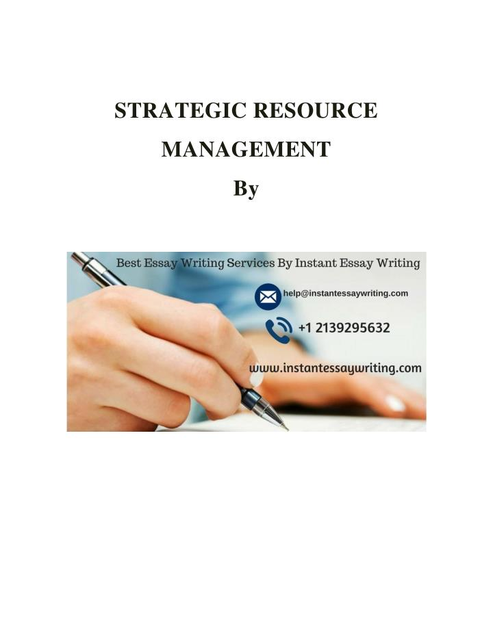 STRATEGIC RESOURCE