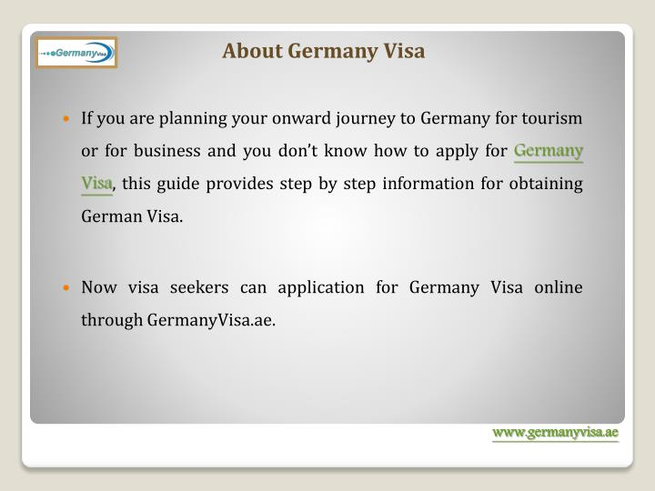 About Germany Visa