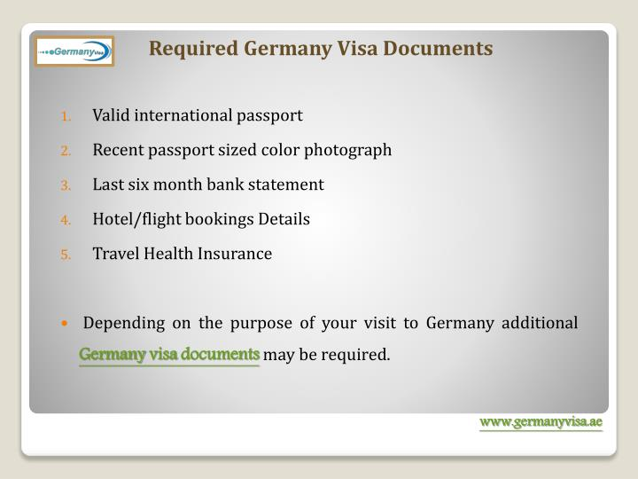 Required Germany Visa Documents