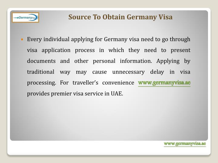 Source To Obtain Germany Visa