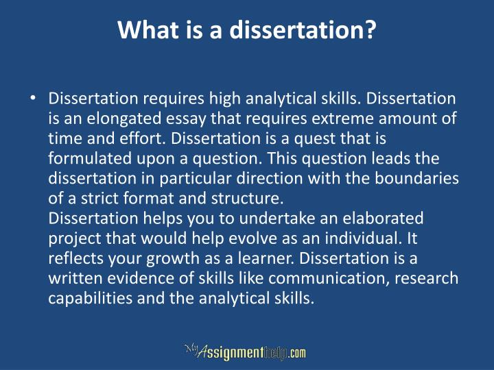 What is a dissertation