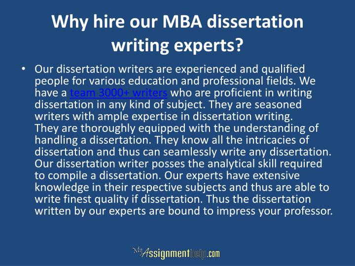 Why hire our MBA dissertation writing experts?