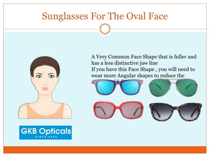 Sunglasses For The Oval Face