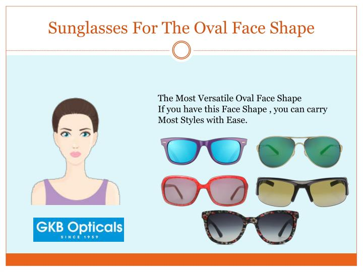 Sunglasses for the oval face shape