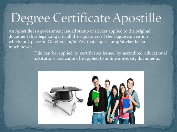 Degree Certificate Apostille