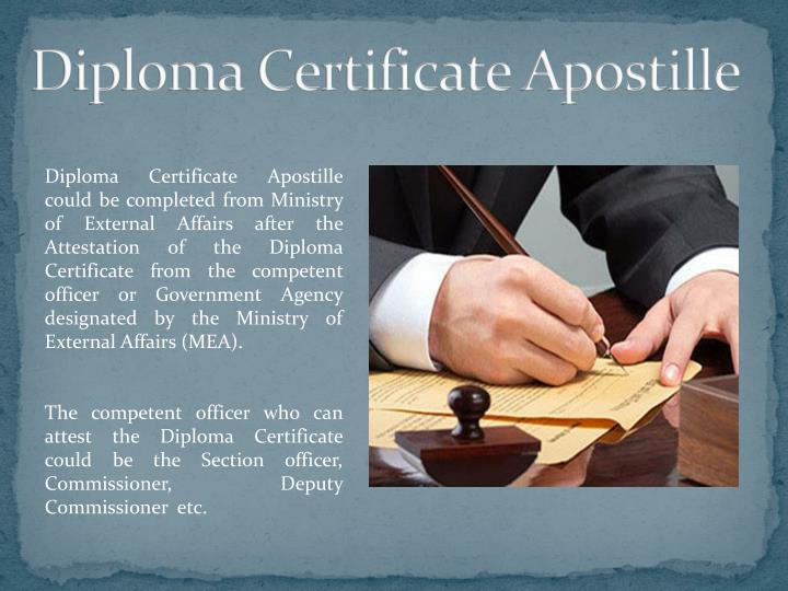 Diploma Certificate Apostille