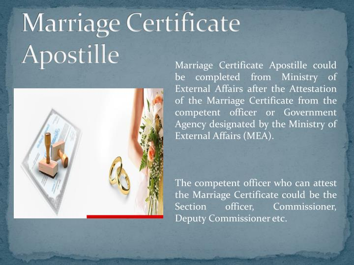 Marriage Certificate Apostille