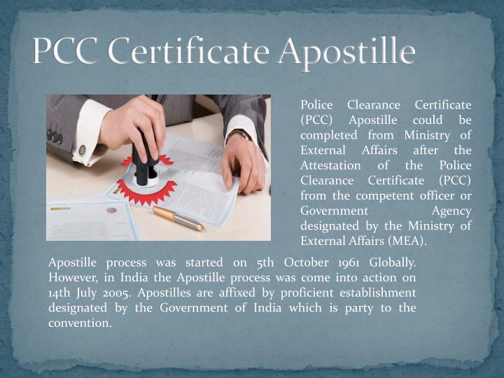 PCC Certificate Apostille