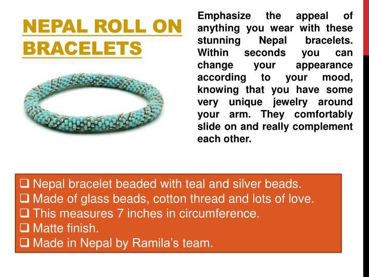 Nepal Roll On Bracelets