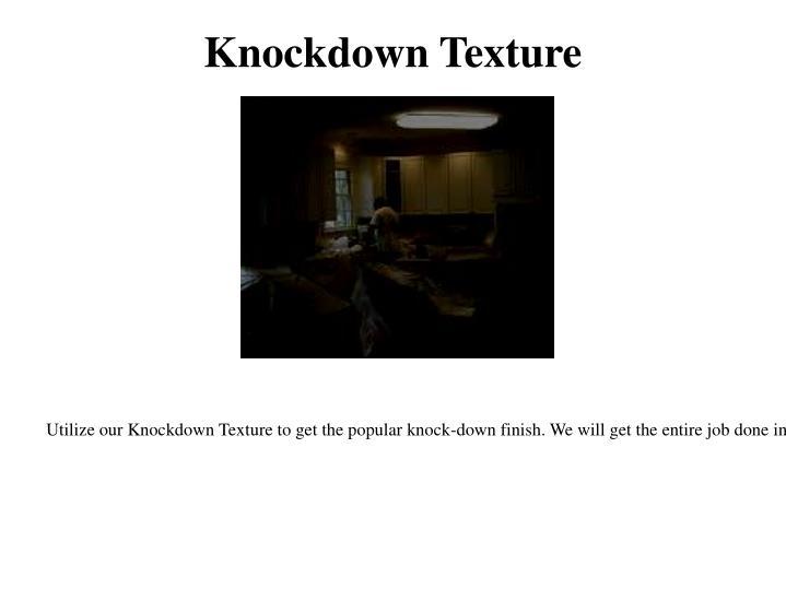Knockdown Texture