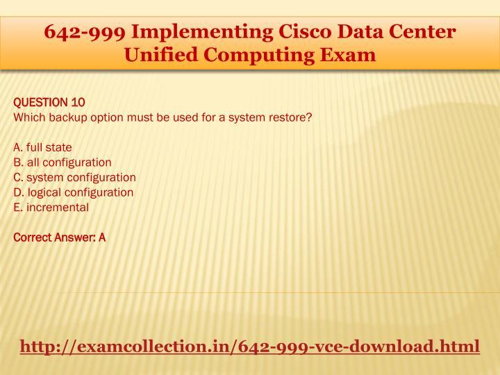 642-999 Implementing Cisco Data Center