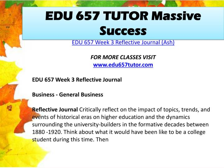 EDU 657 TUTOR Massive Success