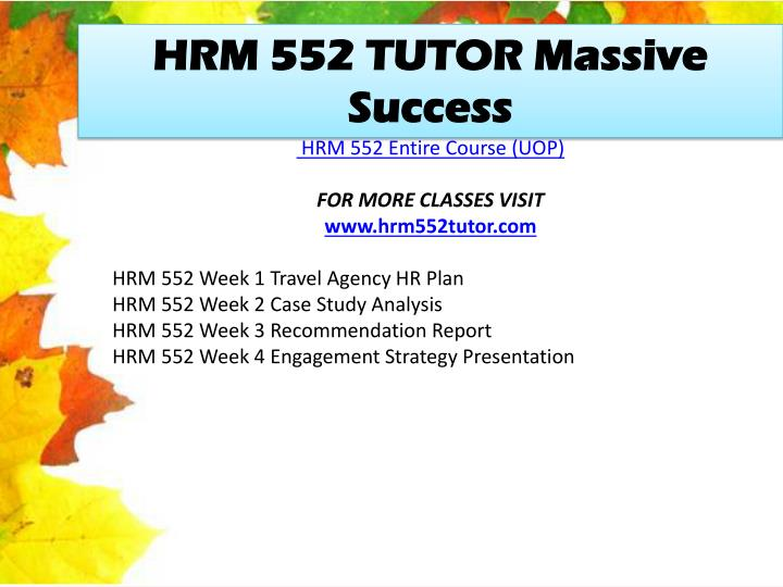 HRM 552 TUTOR Massive Success