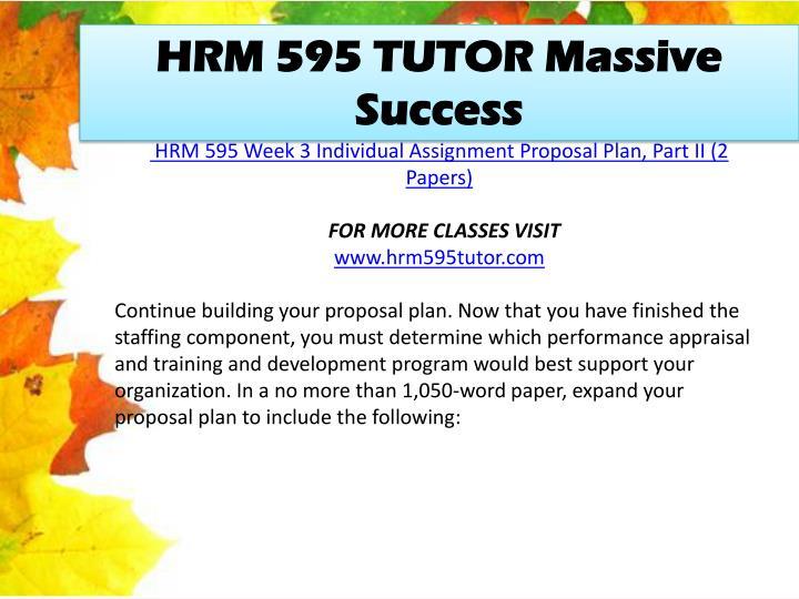HRM 595 TUTOR Massive Success