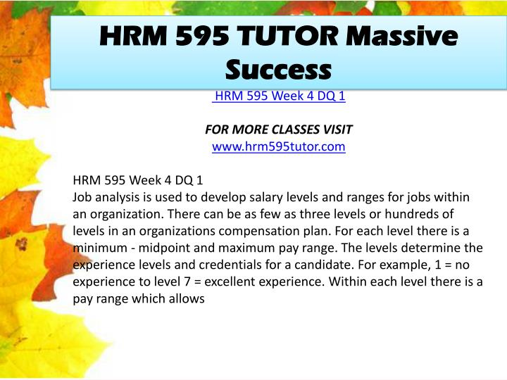 HRM 595 TUTOR Massive Success