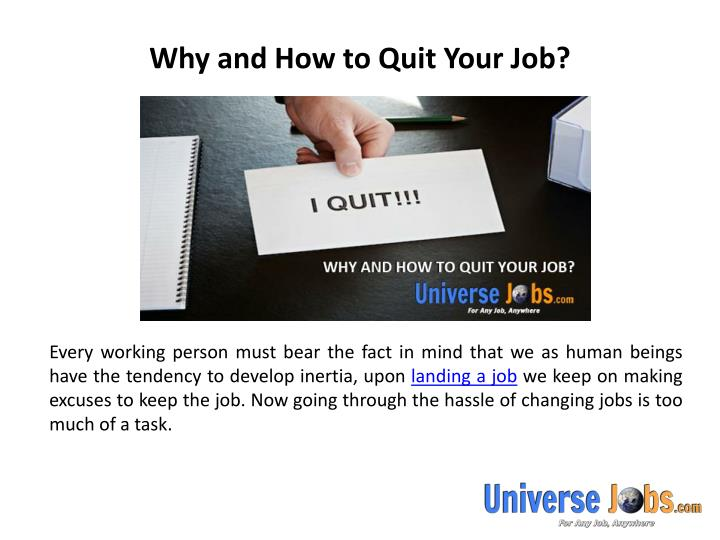 Why and how to quit your job