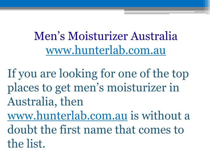Men's Moisturizer Australia