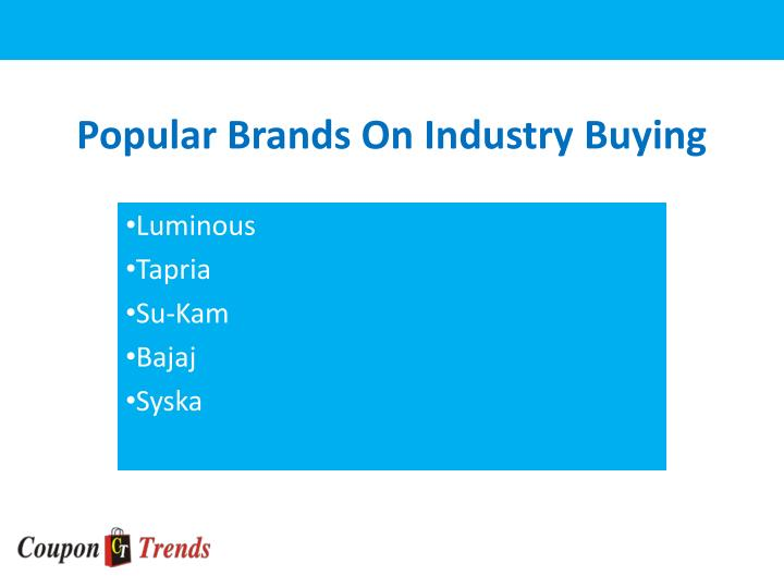 Popular brands on industry buying