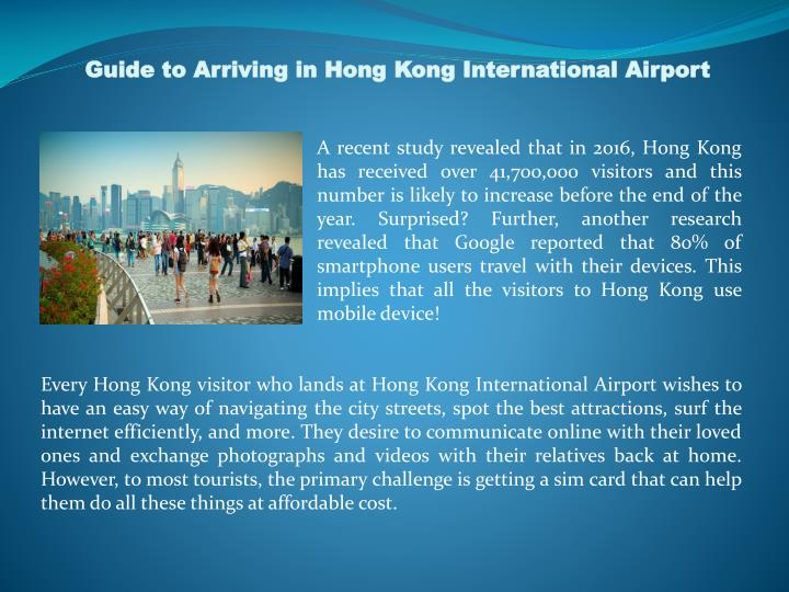 Guide to Arriving in Hong Kong International Airport