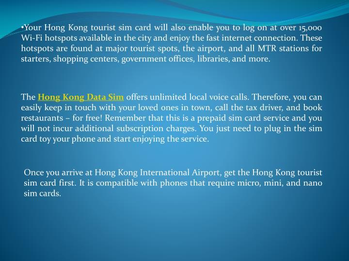 Your Hong Kong tourist