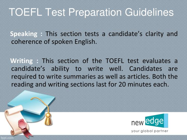 TOEFL Test Preparation Guidelines