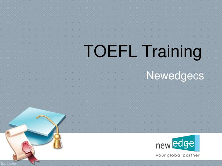 Toefl training