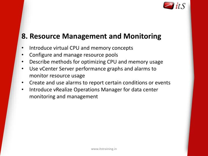 8. Resource Management and Monitoring