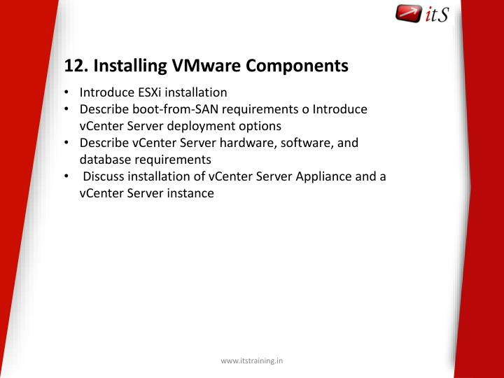 12. Installing VMware Components