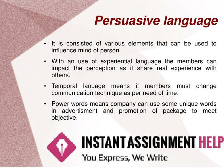Persuasive language