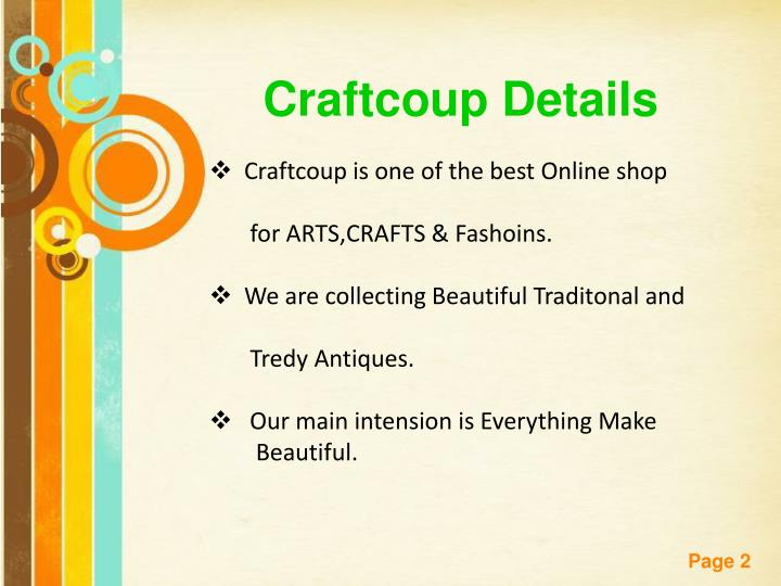 Craftcoup Details