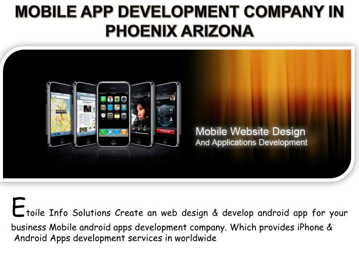 MOBILE APP DEVELOPMENT COMPANY IN PHOENIX ARIZONA