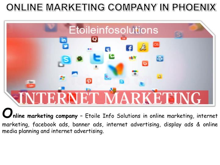 ONLINE MARKETING COMPANY IN PHOENIX