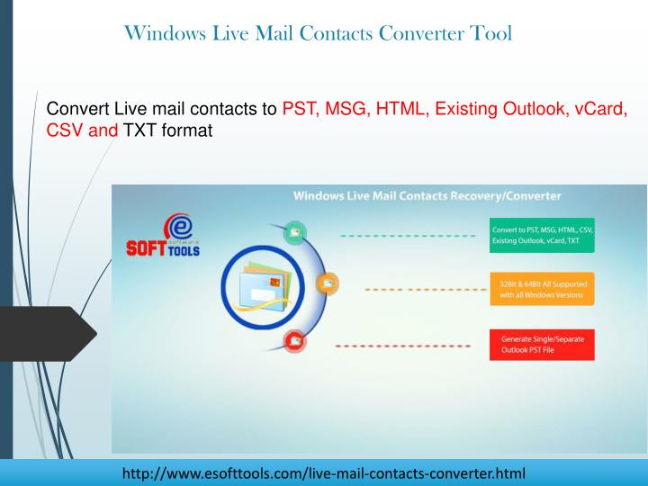 Convert Live mail contacts to