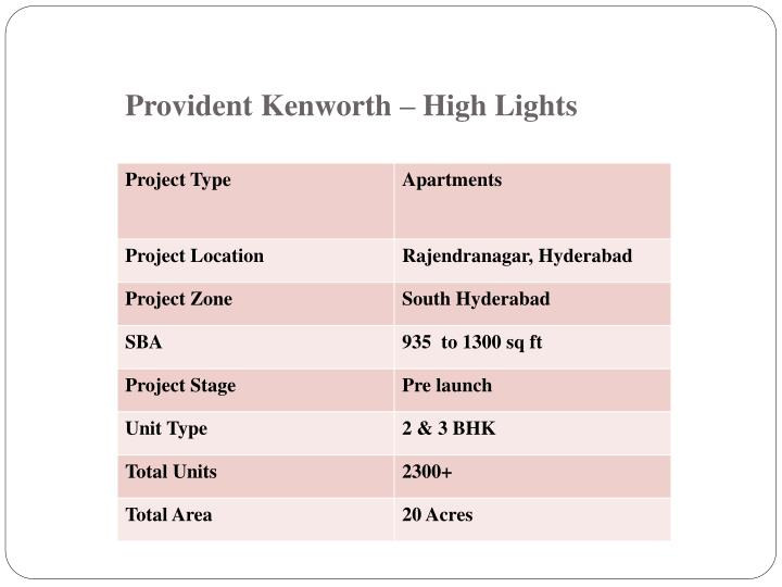 Provident kenworth high lights